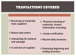 transactions covered