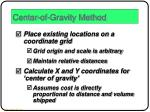 center of gravity method1