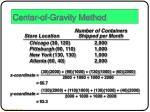 center of gravity method3