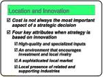 location and innovation