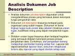analisis dokumen job description