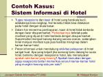 contoh kasus sistem informasi di hotel