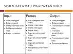 sistem informasi penyewaan video