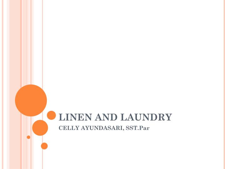 linen and laundry n.