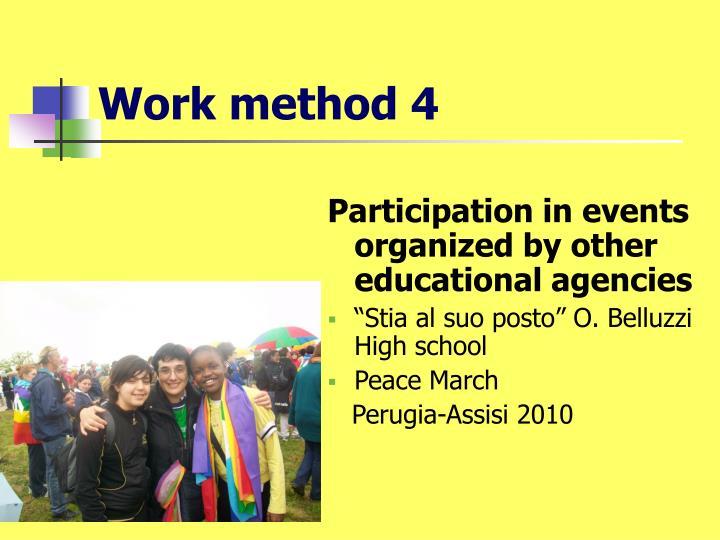 Work method 4