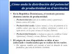 c mo anda la distribuci n del potencial de productividad en el territorio