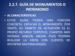 2 2 7 gu a de monumentos o patrimonio