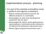 i mplementation process planning