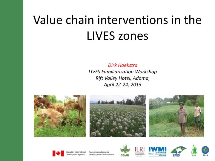 value chain interventions in the lives zones n.