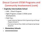 dracut current stem programs and community involvement cont