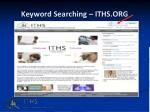 keyword searching iths org