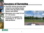accuracy of surveying