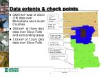 data extents check points