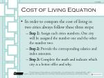 cost of living equation1