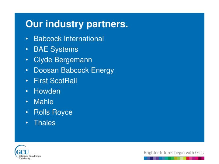 Our industry partners.