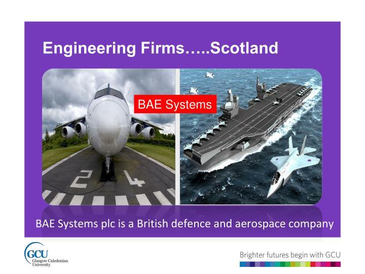 Engineering Firms…..Scotland