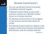 remote control cont