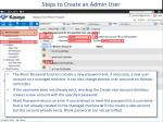 steps to create an admin user