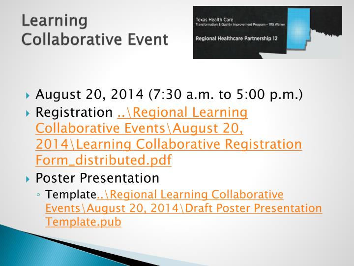 Learning Collaborative Event