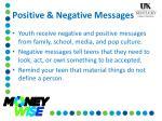 positive negative messages