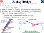 kicker design
