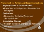 framework for action and recommendations3