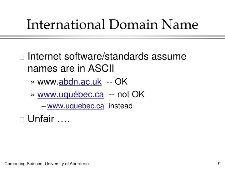 International Domain Name