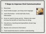 7 steps to improve oral communication