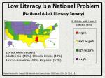 low literacy is a national problem national adult literacy survey