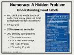 numeracy a hidden problem understanding food labels