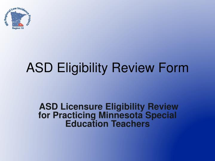 asd eligibility review form n.