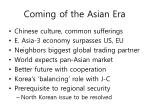 coming of the asian era