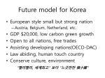 future model for korea