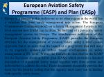 european aviation safety programme easp and plan easp