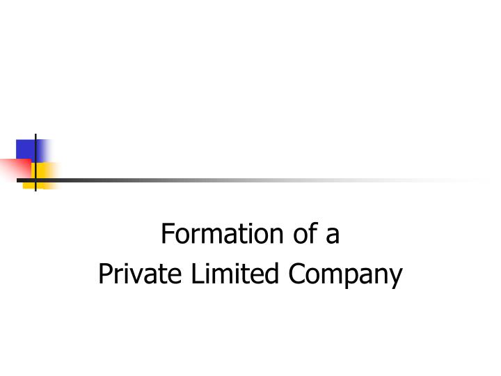 formation of a private limited company n.