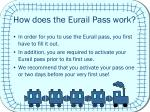 how does the eurail pass work