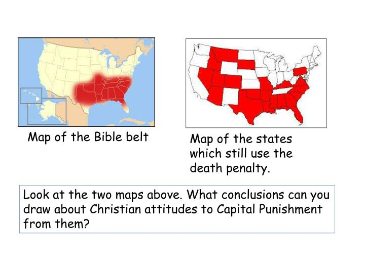 Map of the Bible belt