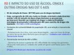 rd e impacto do uso de lcool crack e outras drogas nas dst e aids
