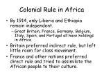 colonial rule in africa