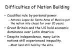 difficulties of nation building