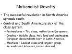 nationalist revolts