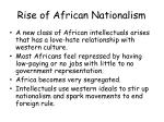 rise of african nationalism