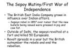 the sepoy mutiny first war of independence