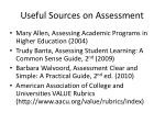 useful sources on assessment