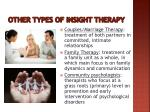 other types of insight therapy