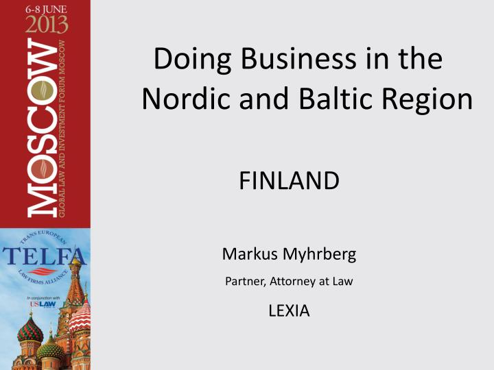 doing business in the nordic and baltic region n.