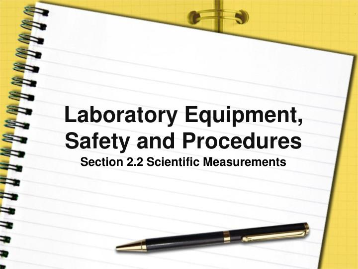 laboratory equipment safety and procedures n.