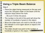 using a triple beam balance1
