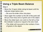 using a triple beam balance2