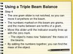 using a triple beam balance3